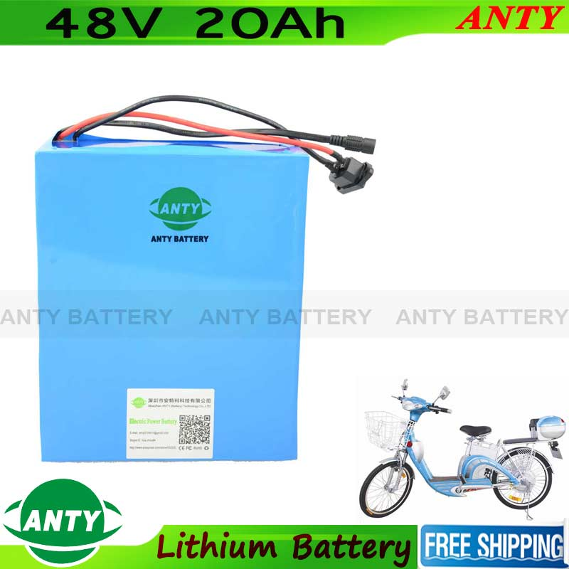 1000W Lithium Battery 48V 20Ah Electric Scooter Bicycle Battery 48V With 2A Charger 30A BMS eBike Battery 48V Recharge Battery free customs taxes 48v 40ah portable lithium battery with 2000w bms chargrer e bike electric bicycle scooter 48v lithium battery