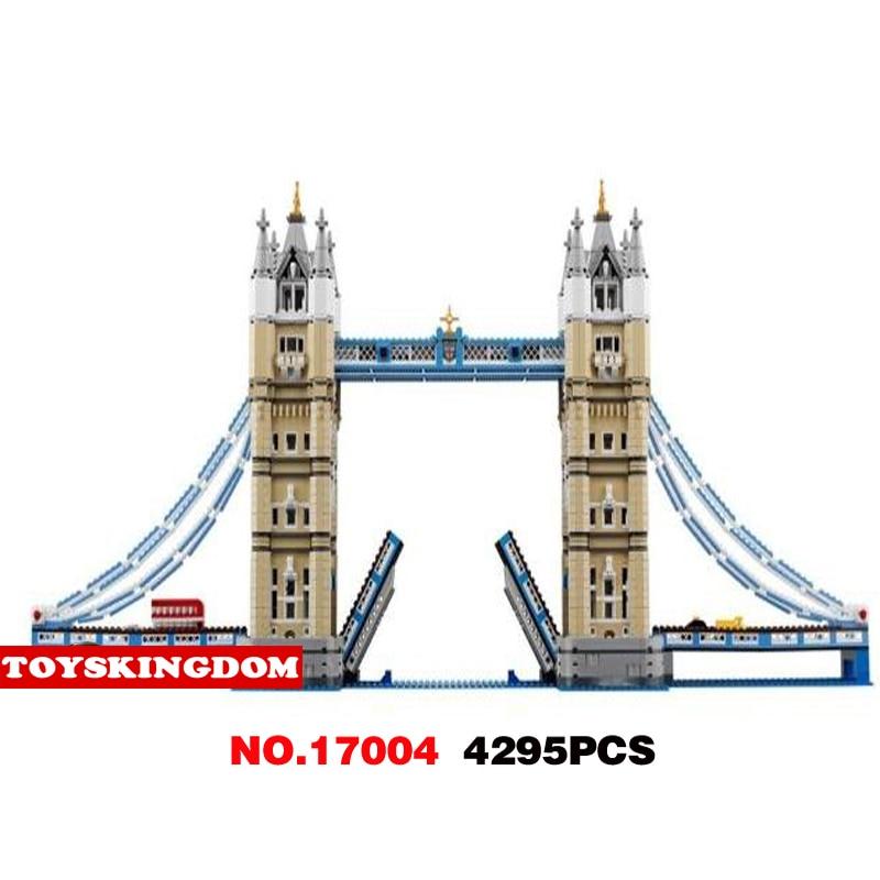 Hot creators world famous Architectures Tower Bridge London England UK building block model bus car bricks 10214 toys collection 570pcs nano bricks toys world famous architecture london tower bridge diy 3d model loz miniature diamond building blocks toys