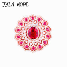 38*38mm Copper Jewelry Gift Micro Pave AAA Zircon CZ Round Spacer Connector For Fashion Bracelet Necklace Jewelry Making CHF561