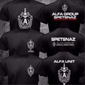 New Russian Spetsnaz Alfa Alpha Unit Counter Terrorist Special Unit Forces T-shirt 2 Side Black O Neck Tshirt Casual Funny Shirt
