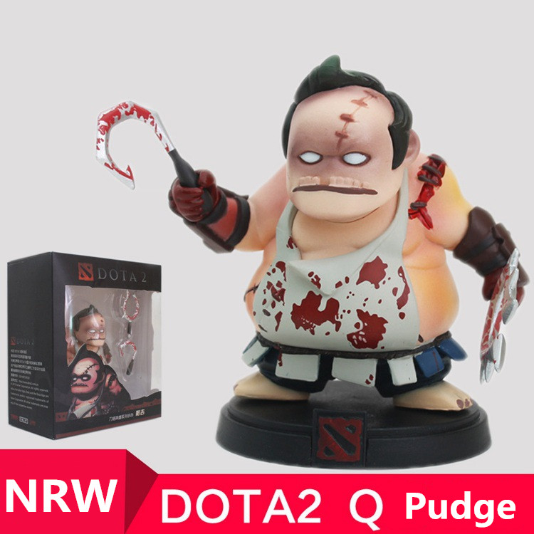 все цены на wholesale 1pcs Q Pudge DOTA 2 Figure heros CM FV PVC Action Figures Collection dota2 Toys best gift free shipping