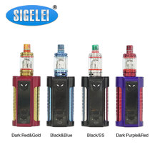 Original Sigelei MT 220W TC Kit with Revolvr Tank Max 220W Output 4ml Tank Capacity with Colorful LED Light No 18650 Battery Kit