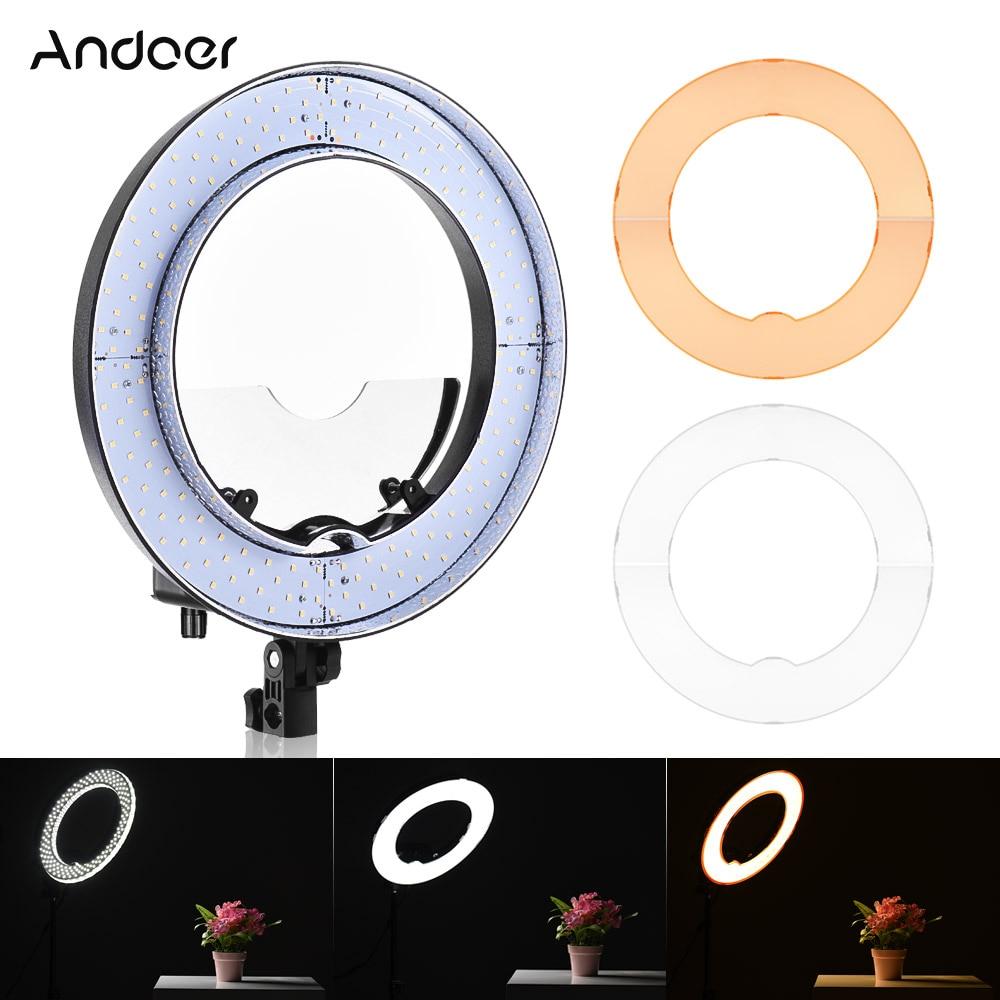 Andoer LA 650D 5500K 40W 600 LED Ring Light Kit Photographic ...