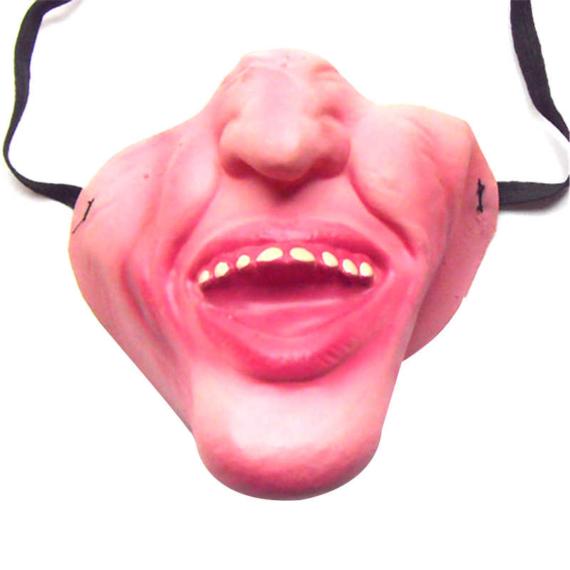 2019 Funny Adult Party Mask Latex Clown Cosplay Half Face Horrible Scary Masks Masquerade Halloween Party Decor Halloween