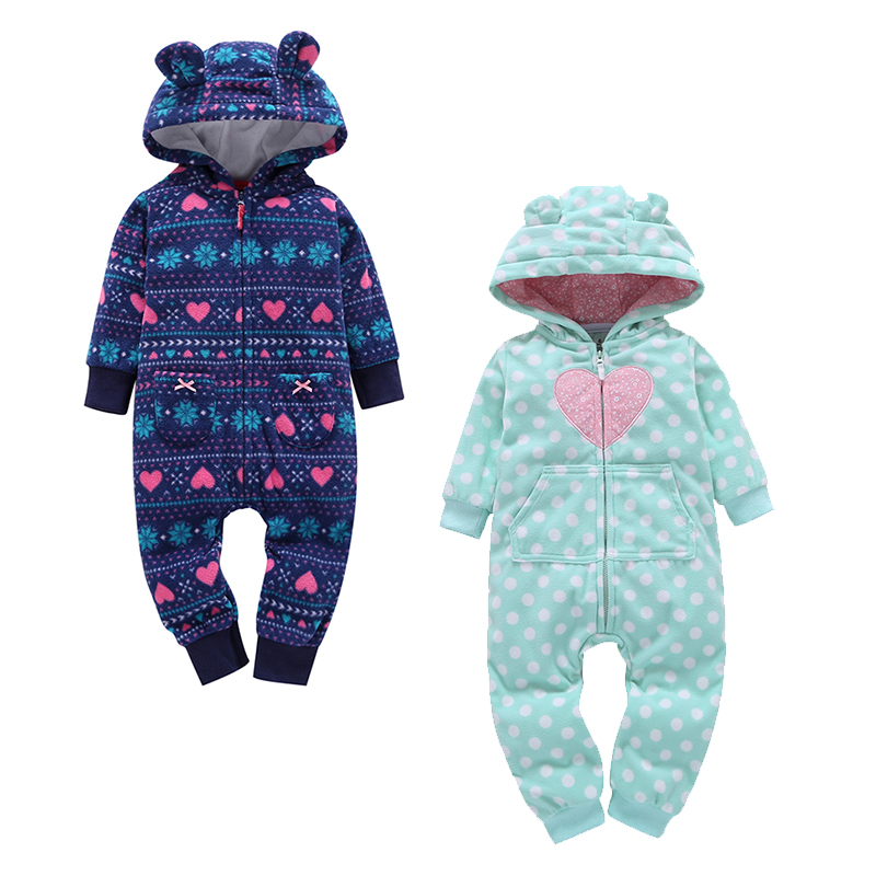 2019 Autumn Winter Warm Baby   Rompers   Baby Boys Clothes Coral Fleece Baby Girls Costume Animal Overall Baby Clothing Jumpsuits