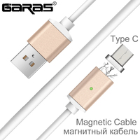 Magnetic USB Type C Fast Charging Cable Type C USB C Charger Adapter Magnet Date Cable