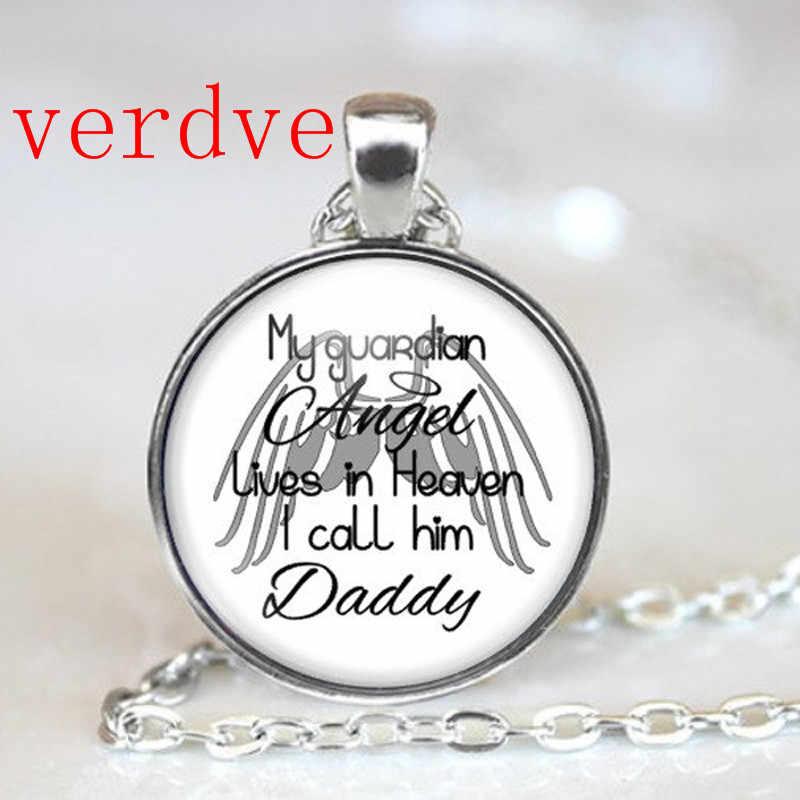 Dad Memorial Halskette In Liebevoller Erinnerung Erinnerung Bereavement Geschenk mein schutzengel lebt in himmel Schriftzug Schmuck