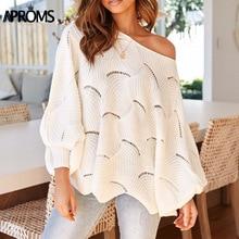 цены на Elegant Solid Color Knitted Loose Pullovers Women Autumn Winter Long Batwing Sleeve Knit Sweaters Plus Size Jumper Pull Femme в интернет-магазинах
