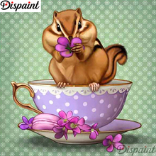 Dispaint Full Square/Round Drill 5D DIY Diamond Painting Hamster cup scenery 3D Embroidery Cross Stitch 5D Home Decor A12358 dispaint full square round drill 5d diy diamond painting hedgehog cup 3d embroidery cross stitch 5d home decor a12359