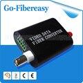 1 Canales (Transceiver/Multiplexer) Fibra Óptica Convertidor de Vídeo mini 1 de vídeo De Fibra Óptica Digital Video Converter