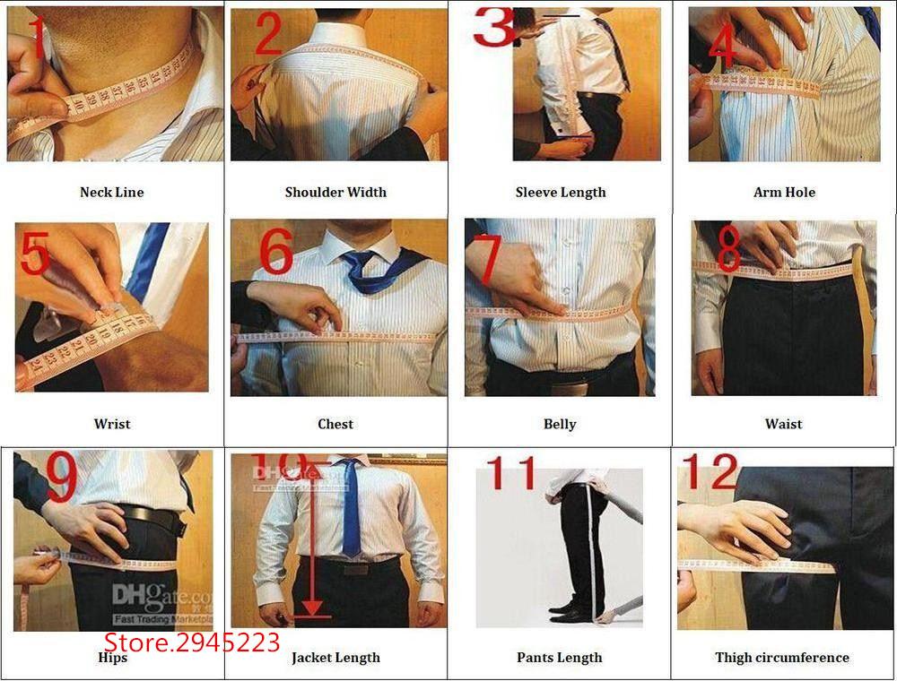 men size chart guide