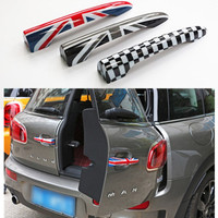 2pcs Lot For Mini Cooper Clubman F54 2016 Union Jack Checkered Trunk Door Handle Covers