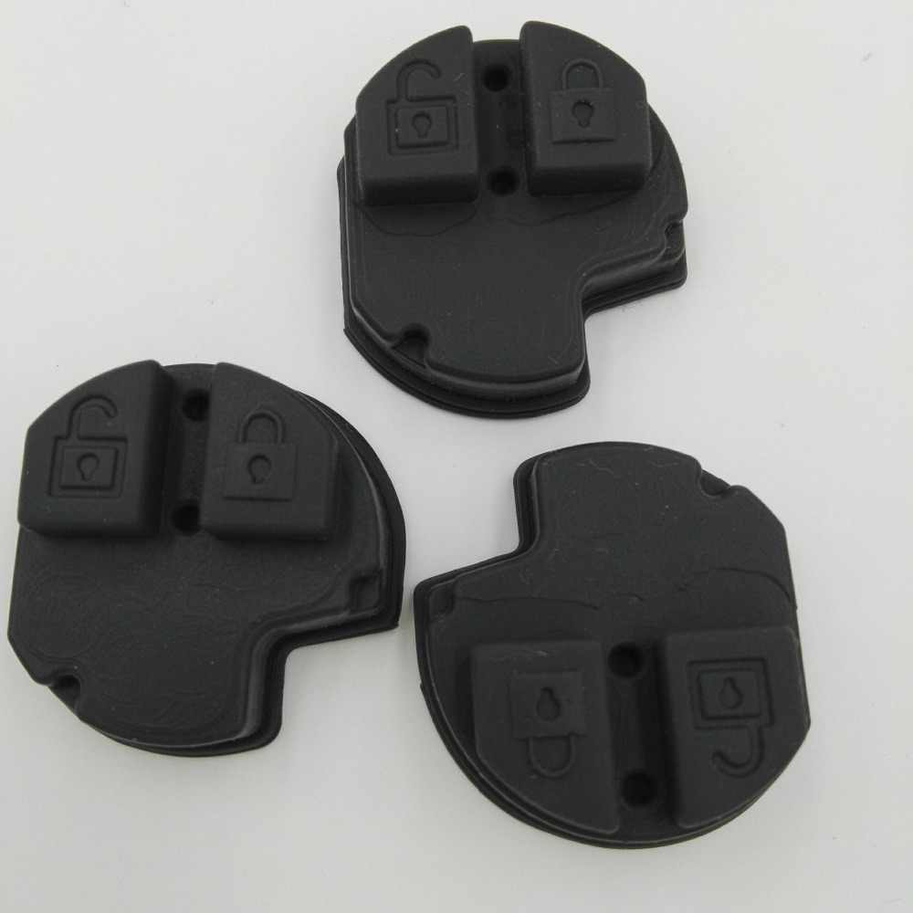 Substituição remoto almofada de borracha botão fob para suzuki grand vitara swift ignis alto sx4 2 botão remoto fob silicone capa chave