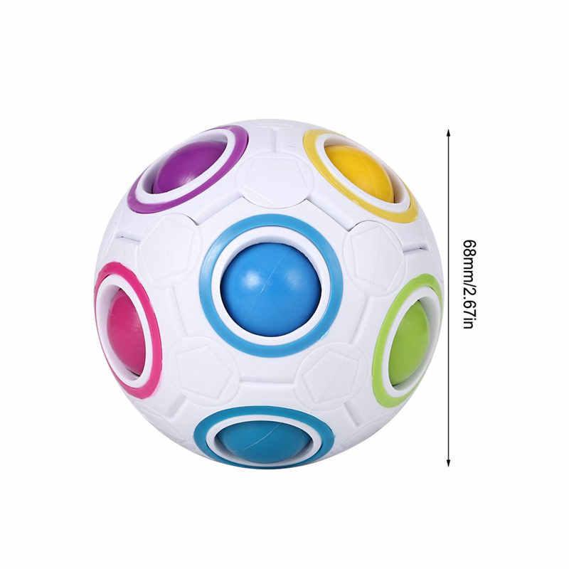 Сферический шар Радуга Магический Куб 3D головоломка твист игрушка мозговой Прорезыватель Детские Подарки Развивающие игрушки снятие стресса Прямая доставка