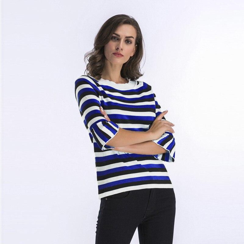 купить!  Echoine Женщины Sexy Красочные Вязать Пуловеры Свитер Полосатый Повседневная Кампус Топы Сладкий