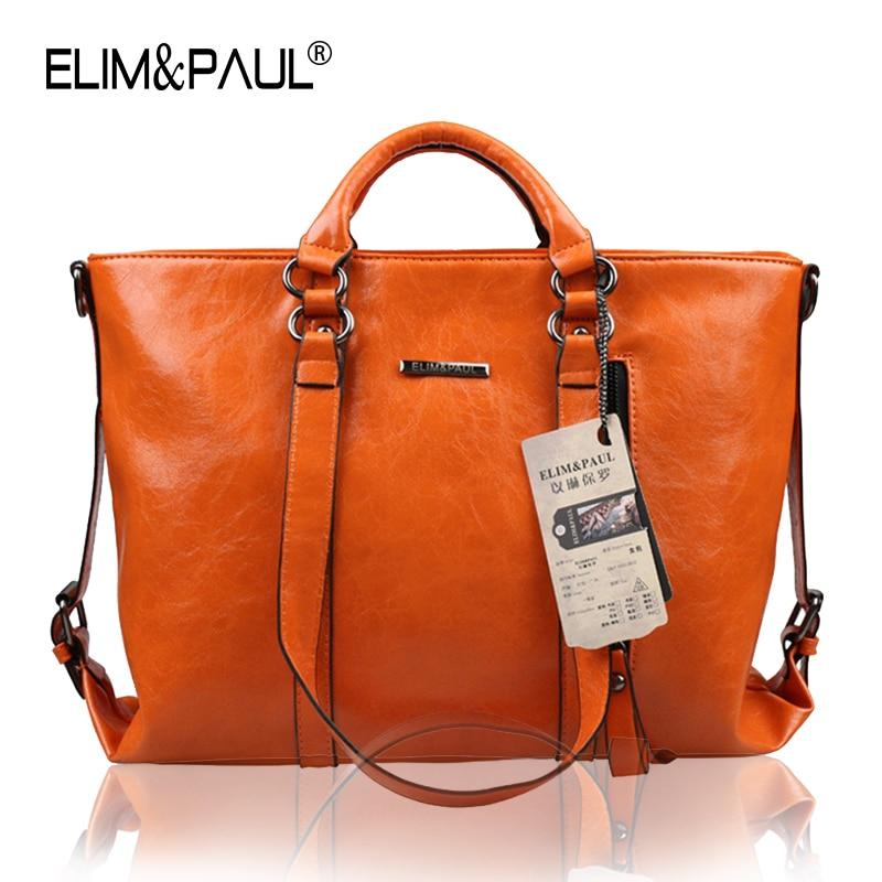 ELIM PAUL Bolsas Femininas Large Womens Leather Bags Tote Women s Handbags Luxury Handbags Women Bags