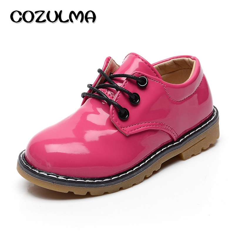 COZULMA Spring Autumn Candy Color Children Sport Shoes Sneakers Pu Leather Shoes Sneaker Boys Girls Casual Shoes Kids Sneakers