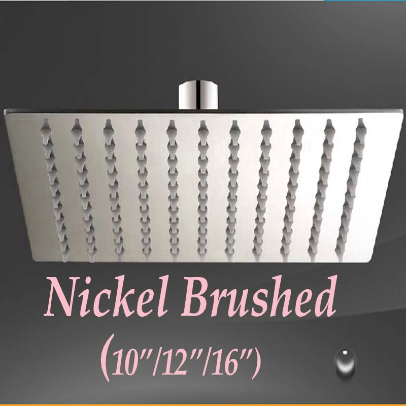 brushed nickel square rain shower head. Wholesale And Retail Promotion Nickel Brushed Square Rain Shower Head 10  12 Online Get Cheap