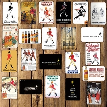 [ WellCraft ] johnnie walker whisky Metal Sign Wall Poster Sticker Party Decor for Pub bar Mural Iron Plaque Painting FG-237