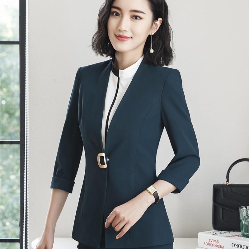 abd2f55c6134 ... blazer female 2018 new fashion temperament summer half sleeve slim  jacket women office ladies plus size formal coat. 20% OFF. Previous