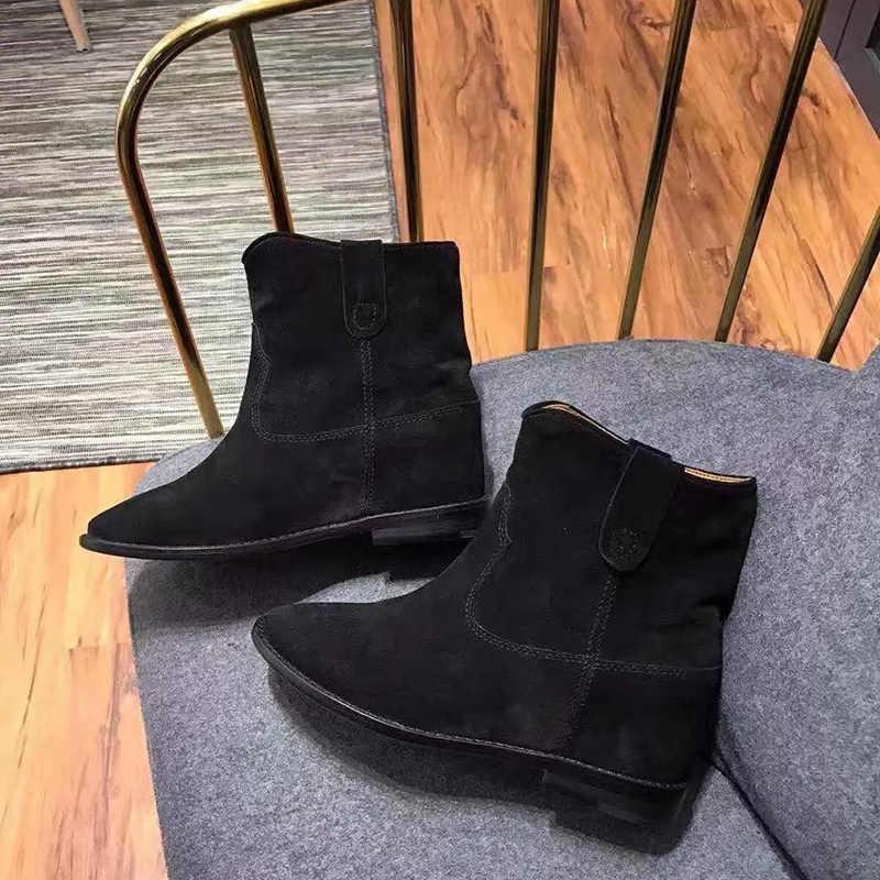 Çıplak Kadın Ayakkabı yarım çizmeler Kadın Moda Botas Hombre Yeni Tasarımcı Bota Feminina Roma Zapatos De Mujer Eğilim Retro Botas Mujer