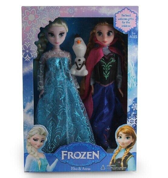 27CM Princess Elsa Doll Anna Boneca Elsa Toys for Girl Anna Juguetes BD0001