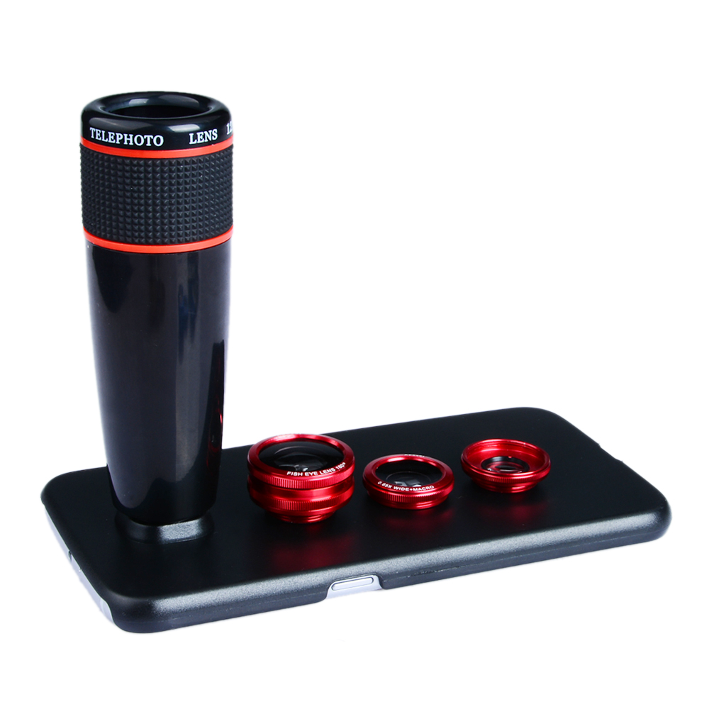 imágenes para Gran Angular y Macro + Fisheye Len APEXEL redmi5 Teleobjetivo Telescopio de la Lente de Zoom Óptico para el iphone Samsung xiaomi smartphone 3in1