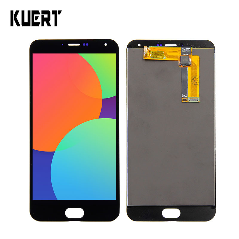 KUERT LCD For Mei zu M2 Note LCD Display Digitizer Screen Touch Panel Glass Sensor Assembly 1920*1080 Replacement Parts + Tools