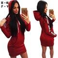 Women dress новый горячий Hoodede dress Мода стиль Над коленом мини дешевые одежда китай плюс размер женской одежды