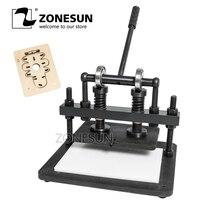 ZONESUN 2616cm DIY çanta manuel deri kesme makinesi fotoğraf kağıdı PVC/EVA levha kalıp kesici deri kalıp kesme aracı zanaat