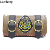 Leeshang Fashion Wristband Clutch Wallets Harry Potter Hogwarts Castle Crest Envelope Satchel Fold Wallet Purse With