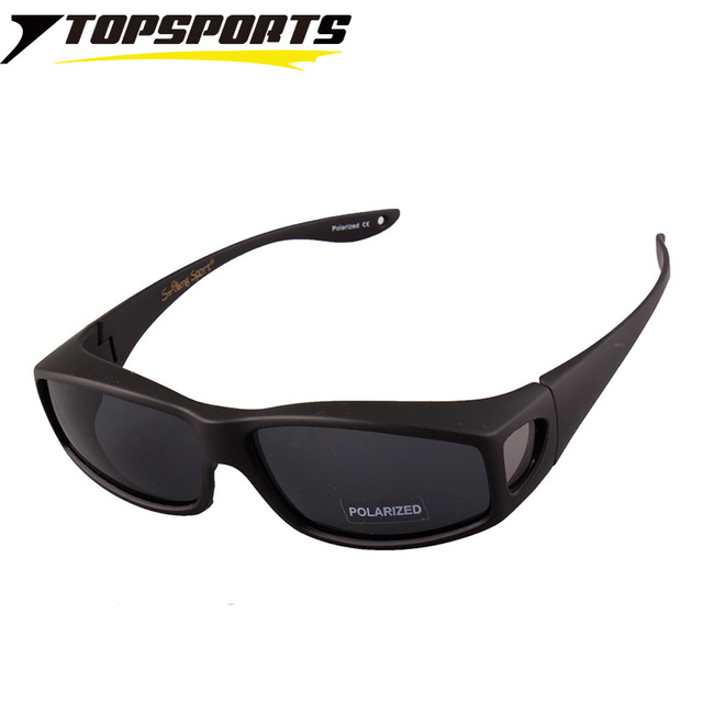 91419845df TOPSPORTS men women Fit over Glasses myopia polarized Sunglasses  prescription frame Eyewear for Driving Anti UV400