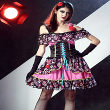 Free shipping Sexy adult skeleton dress the horror ghost Cosplay plays Costume Halloween Ghost bride for women JQ-1076
