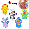 Moderno Crianças Dos Desenhos Animados do Brinquedo Do Bebê Fantoche de Mão Fantoches de Dedo Boneca Animais Luvas