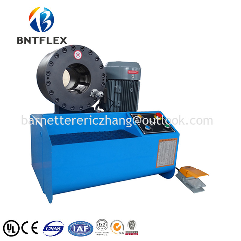 US $5100 0 |2017 BARNETT 10 sets free dies finn power BNT91B hydraulic hose  steel pipe crimping tools machine-in Hydraulic Tools from Tools on