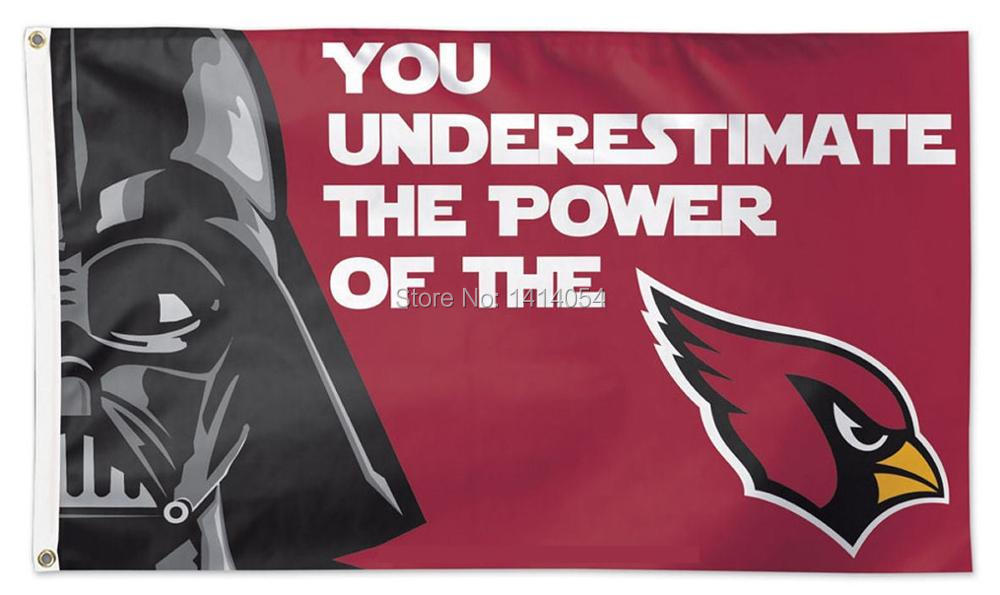 Arizona Cardinals Star Wars Flag 150X90CM Banner 100D Polyester 3ft x 5ft Custom grommets 001, free shipping