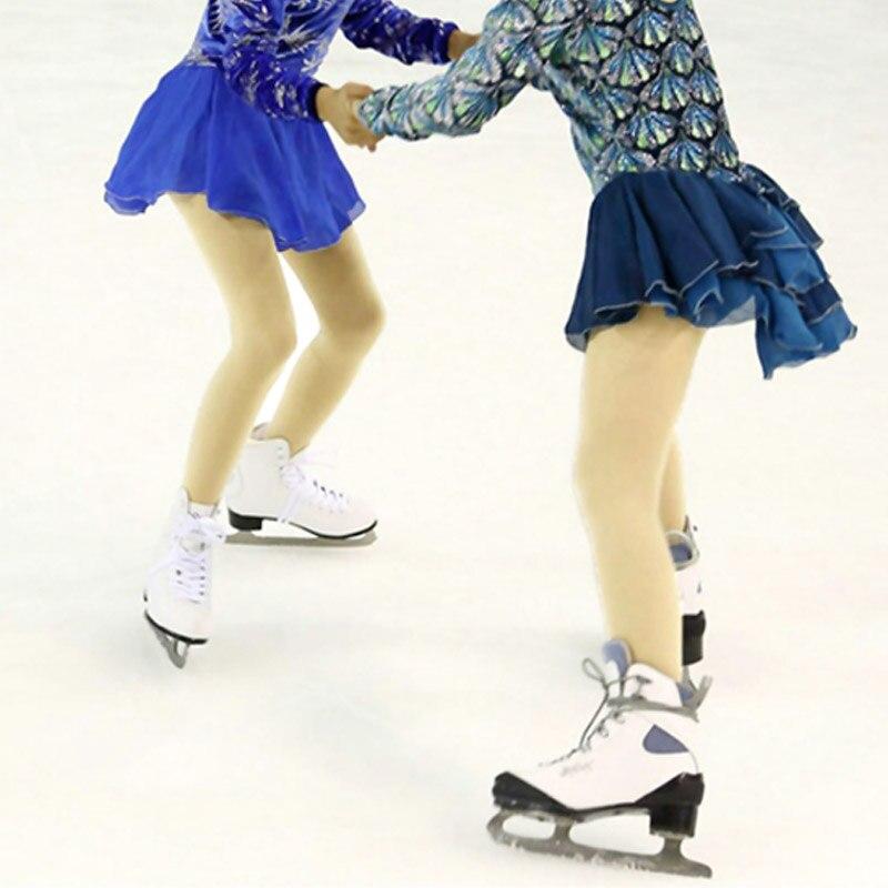 Prix pour VIK-MAX respirant figure skate chaussures avec en acier inoxydable glace lame nouveau style blanc patin à glace patinage skate chaussures