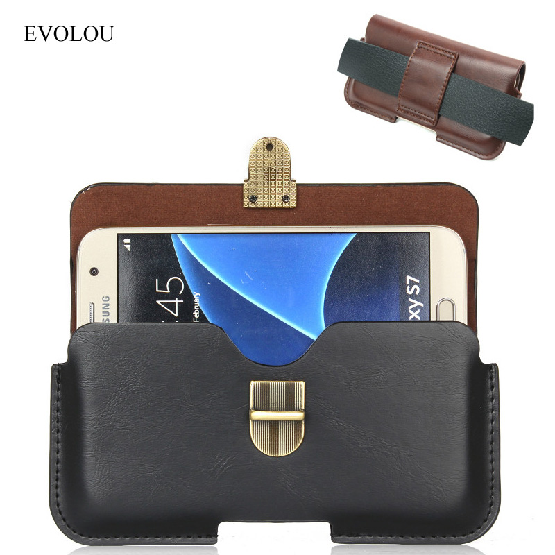 Universal Belt Clip Cover for Samsung Galaxy S8 S7 S6 Edge A7 A5 A3 J7 J5 J1 J3 2016 Pouch Bag Waist Leather Case for xiaomi 4X