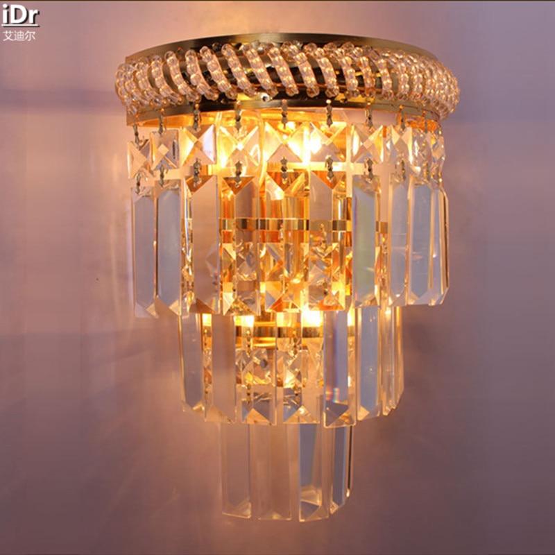 Crystal Gold stylish modern minimalist bedroom living room dining room den Wall Lamps OLU-0017