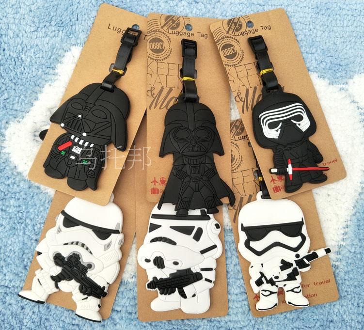 Star Wars Darth Vader Anime Travel Accessories Luggage Tag Suitcase ID Address Portable Tags Holder Baggage Label Gifts New