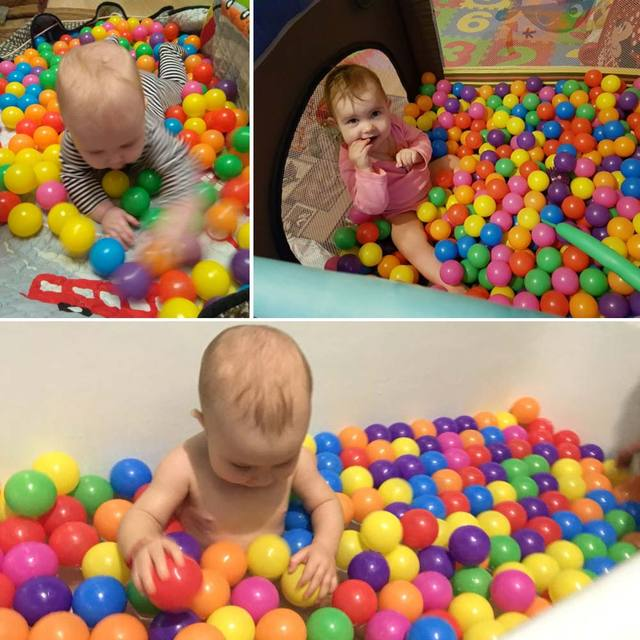 100pcs/lot Eco-Friendly Colorful Plastic Ball Water Pool Ocean Wave Ball Toys Stress Air Ball Outdoor Sports Toys for Children 2