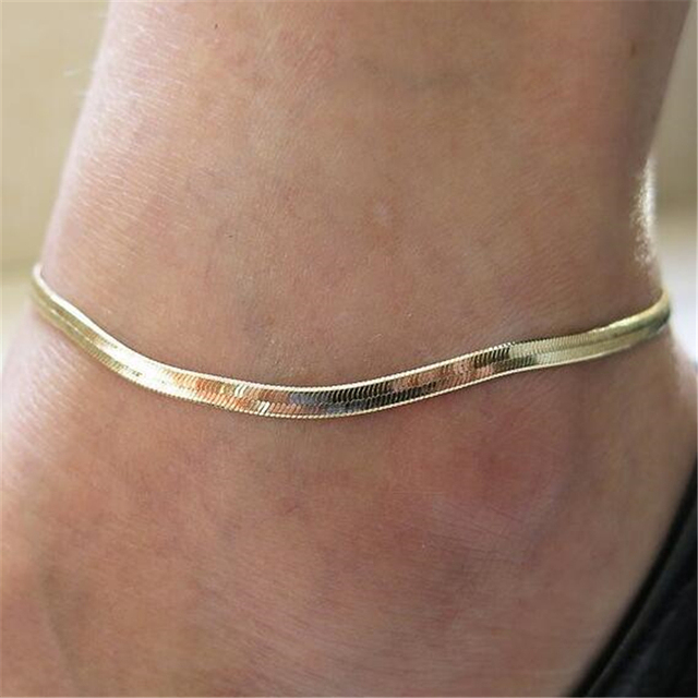 New Fashion Accessories Women S Y Fish Scales Chain Silver Gold Ankle Bracelet Anklet Foot Jewelry