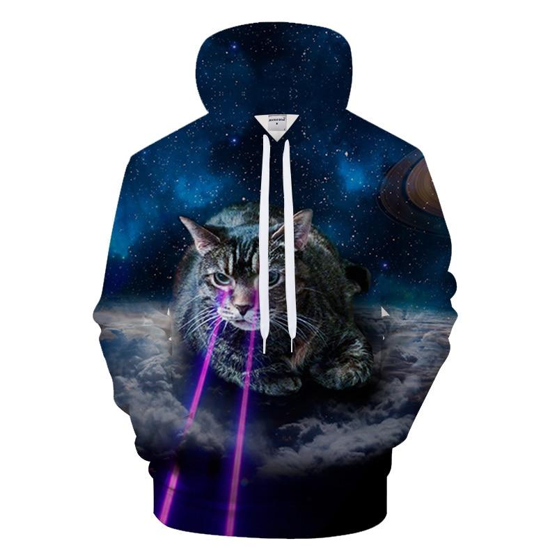 Womens Cute Cat Ear Hoodie Sweatshirts Halloween Movie Lantern Dew-Navel Hoody Sweater
