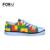 Brinquedo FORUDESIGNS Amarelo Ciclismo Impressão Baixo Top Sapatos Sapatas de Lona Leve Ata Acima As Sapatilhas para Meninos e Meninas Crianças Zapatos Mujer