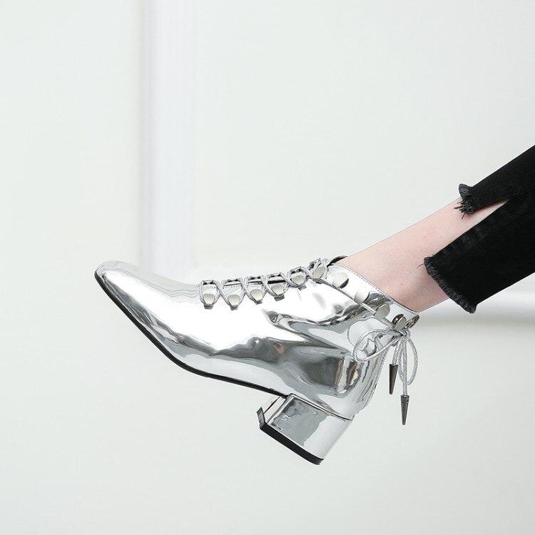 Carré Bottes Initiale ef1440 ef1440 Suede Noir Élégant Bout Femme L'intention Argent Plus Nouvelle Silver Chaussures Chunky Mode Talons Patent 5 10 Femmes 3 Black Nous Ef1440 Taille nIfdWYwxq