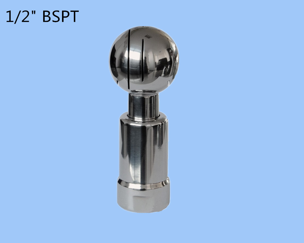 "1/2"" SS304 rotating tank cleaning CIP nozzle,thread rotary nozzle,Stainless Steel Rotary Spray Ball for tank cleaning"