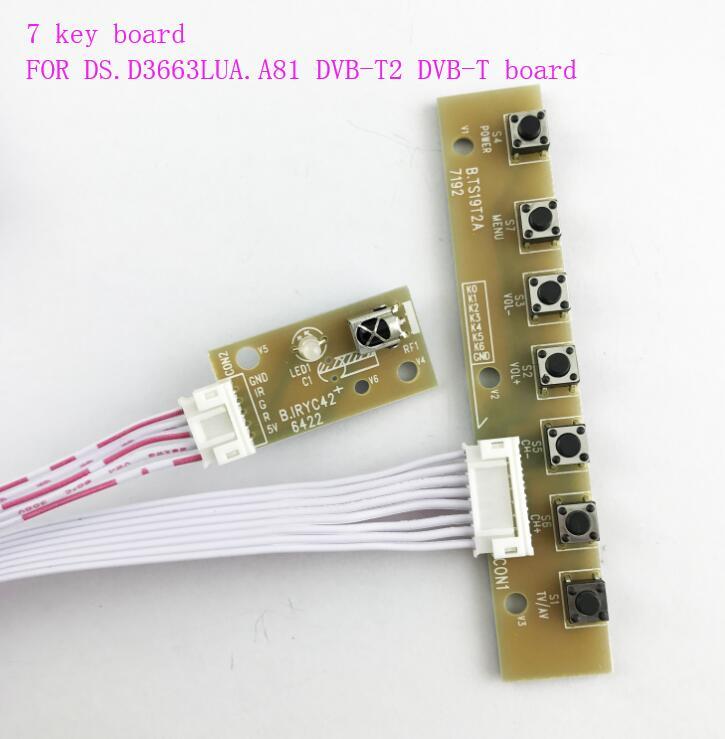 7 key board for DS.D3663LUA.A81 DVB-T2 DVB-T driver board7 key board for DS.D3663LUA.A81 DVB-T2 DVB-T driver board
