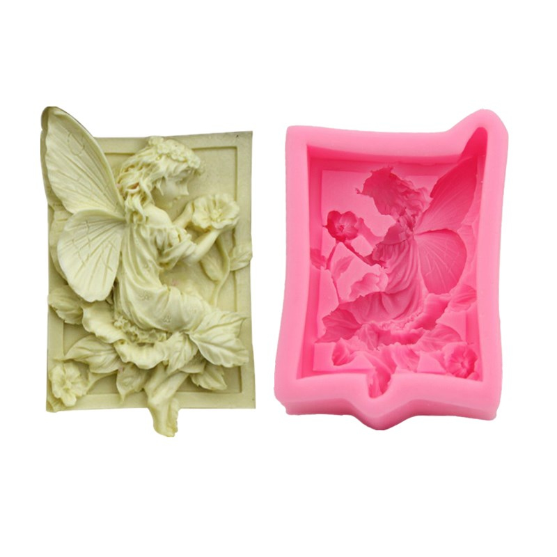 Square Silicone Soap Mold Flower Fairy Cake Decorating Tools Handmade Soap Making Mould Candle Silicone Mould Crafts