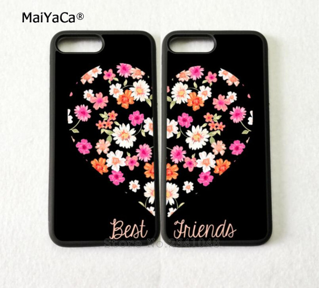 new style af3dd abba3 US $4.38 |BFF heart pair matching best friends silicone soft phone cases  for iPhone 5s se 6 6s plus 7 7plus 8 8plus X XR XS MAX cover case-in ...