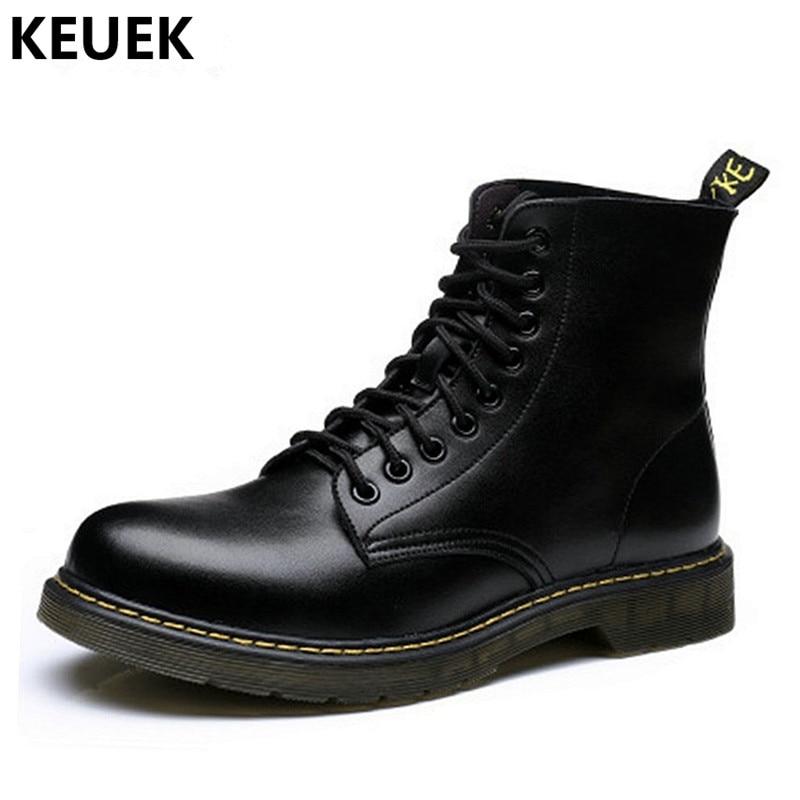 Große Größe Männer Stiefel Lace-up Echtes Leder Ankle Motorrad Stiefel Britischen Stil Männlichen Schuhe Outdoor Wüste Stiefel 3a